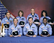 Asian-americans Posters - Crew Portrait Of The Challenger Poster by Everett