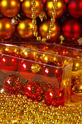 Sparkling Prints - Crhistmas Decorations Print by Carlos Caetano