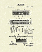 Board Game Drawings - Cribbage Board 1885 Patent Art by Prior Art Design