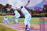 Cricket Paintings - Cricket In The Park by Glenford John