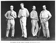 Shin Guard Framed Prints - Cricket Players, 1889 Framed Print by Granger