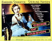 Sterling Hayden Art - Crime Of Passion, Barbara Stanwyck by Everett