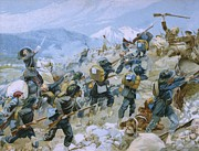 Charge Paintings - Crimean War and The Battle of Chernaya by Italian School