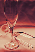 Champagne Glasses Photos - Crimson Glasses by Sarah Broadmeadow-Thomas
