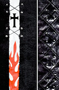 Gothic Cross Posters - Criss Cross Poster by Roseanne Jones