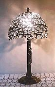 Assemblage Glass Art - Cristal silence Lamp by Greg Gierlowski