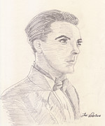 Drawing Drawings - Cristian Castro by Jose Valeriano