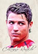 Soccer Paintings - Cristiano Ronaldo by Wu Wei