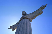 Statue Portrait Photo Posters - Cristo Rei Poster by Anonymous