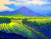 Purple Decorative Art Art - Croagh Patrick County Mayo by John  Nolan
