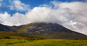 Overcast Day Framed Prints - Croagh Patrick mountain Framed Print by Gabriela Insuratelu