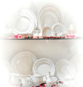 Tea Kettles Posters - Crockery Set Poster by Charuhas Images