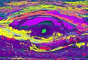 West Indies Digital Art Prints - Crocodile Eye Print by Ian  MacDonald
