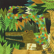 Reptiles Drawings - Crocogator by Kate Cosgrove