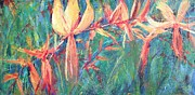 Crocosmia Paintings - Crocosmia 01 by Sukey Jacobsen