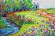 Cambridge Pastels - Crocus field by K M Pawelec