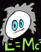 Unique Drawings Posters - Cronkle Einstein Poster by Jera Sky