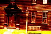 Old Houses Photo Metal Prints - Crooked Effect Metal Print by Emily Stauring