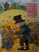 Nursery Rhyme Painting Metal Prints - Crooked Man Metal Print by Victoria Heryet