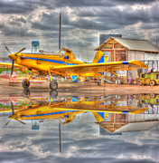 Flyers Art Framed Prints - Crop Duster 001 Framed Print by Barry Jones