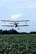 Bi Plane Posters - Crop Dusting Poster by Photo Researchers