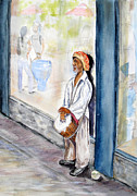 Store Fronts Paintings - Cropped Drumming Downtown Denver by Vicki  Housel