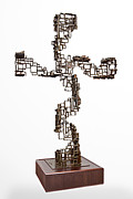 Italian Sculpture Sculptures - Cross by Akelo - Andrea Cagnetti