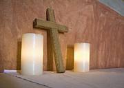 Tallahassee Prints - Cross and Candles Print by Patrick M Lynch
