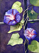 Morning Glories Paintings - Cross and Glory by Bonnie Rinier