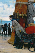 Victorian Costume Prints - Cross Atlantic Voyage Print by Henry Bacon
