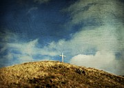 Grassland Photo Posters - Cross Poster by Bernard Jaubert