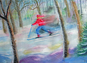 Sking Prints - Cross Country Ski Print by Robert P Hedden