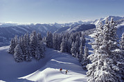 Winter Scenes Photos - Cross-country Skiing In Aspen, Colorado by Annie Griffiths