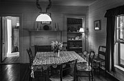 Wooden Paneling Prints - Cross Creek Country Dining Room Print by Lynn Palmer