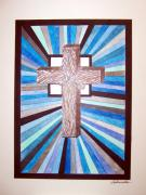 Crucifix Art Mixed Media - Cross Crucifix by Woulstain Creado