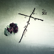 Snowy Winter Photos - Cross by Joana Kruse