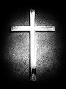 Crucifix Art Photo Posters - Cross Poster by John Rizzuto