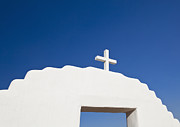 Taos Prints - Cross On An Archway Print by Bryan Mullennix