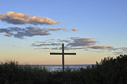 Forgiveness Prints - Cross on Beach Print by Terry DeLuco