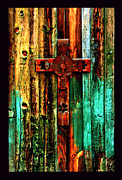 Hand Made Art - Cross on Hopper Barn by Susanne Still