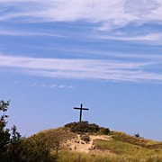 Religious Art - #cross #religious #blue #skies #trees by Robin Boer