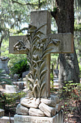Tombstone Photos - Cross Series III by Suzanne Gaff