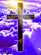 Jesus Digital Art Prints - Cross Print by Stephen Younts