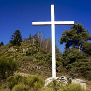 Mountainous Photos - Crosses by Bernard Jaubert