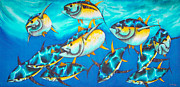 Pelagic Fish Tapestries - Textiles Posters - Crossin the Atlantic Poster by Daniel Jean-Baptiste