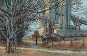Plein Air Pastels Prints - Crossing Ahead Print by Donald Maier