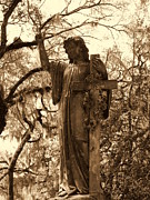 Resting Sculpture Metal Prints - Crossing Angel Metal Print by Gina Longo