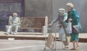 Old Street Paintings - Crossing Divisadero by David Clemons