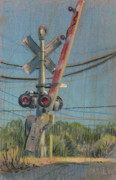 Transportation Pastels Originals - Crossing by Donald Maier