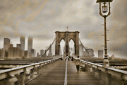 Brooklyn Bridge Art - Crossing Over by Joann Vitali